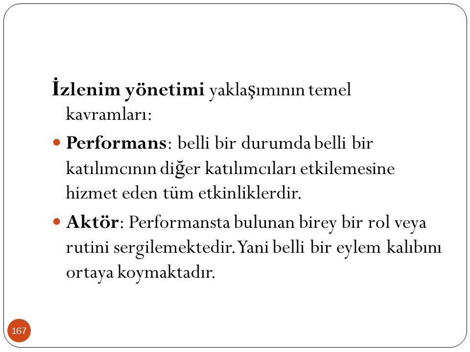 167 İ zlenim yönetimi yakla ş ımının temel kavramları: Performans: belli bir durumda belli bir katılımcının di ğ er katılımcıları etkilemesine hizmet