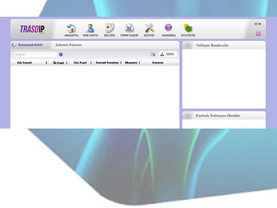 TRASD-IP Kayıt Sistemi