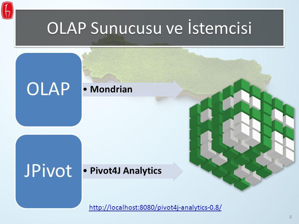 OLAP Sunucusu ve İstemcisi Mondrian OLAP Pivot4J Analytics JPivot http://localhost:8080/pivot4j-analytics-0.8/ 8