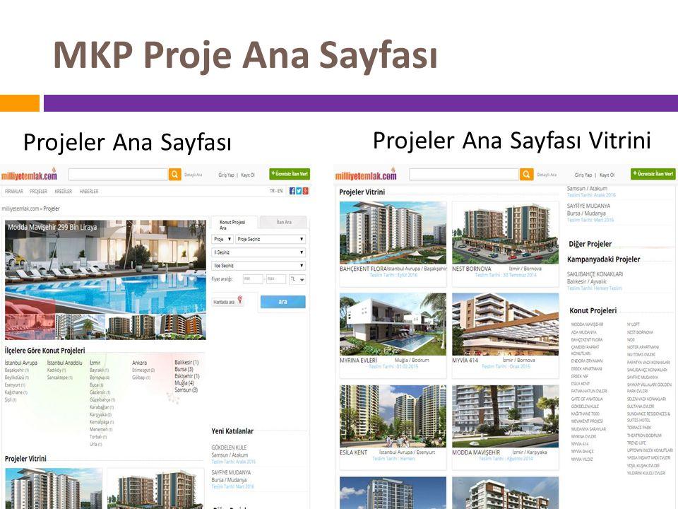 MKP Proje Ana Sayfası Projeler Ana Sayfası Projeler Ana Sayfası Vitrini