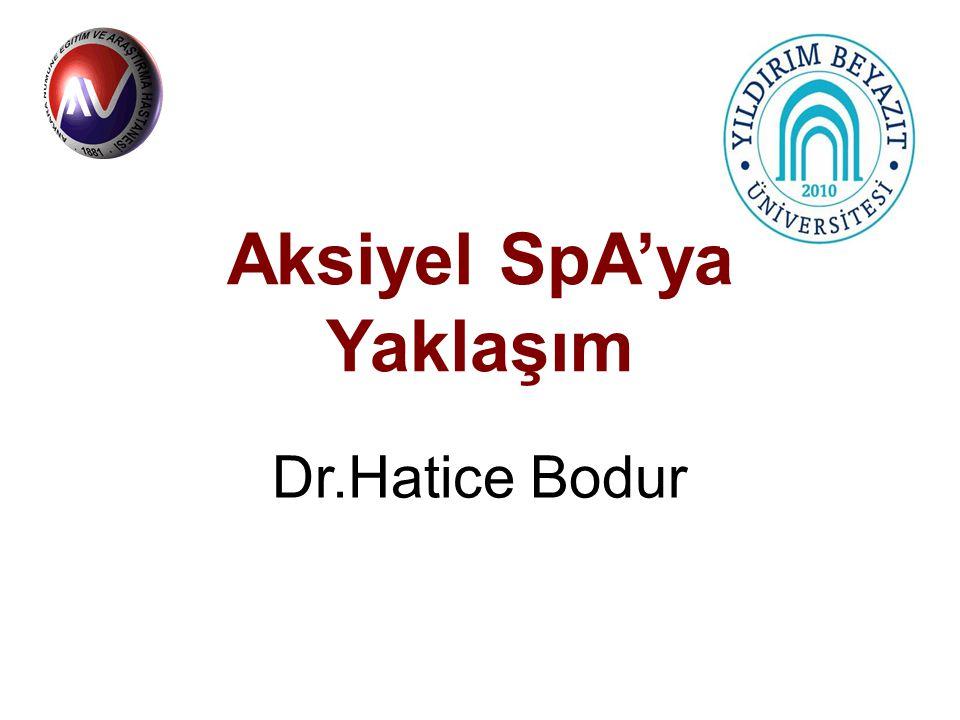 Aksiyel SpA'ya Yaklaşım Dr.Hatice Bodur
