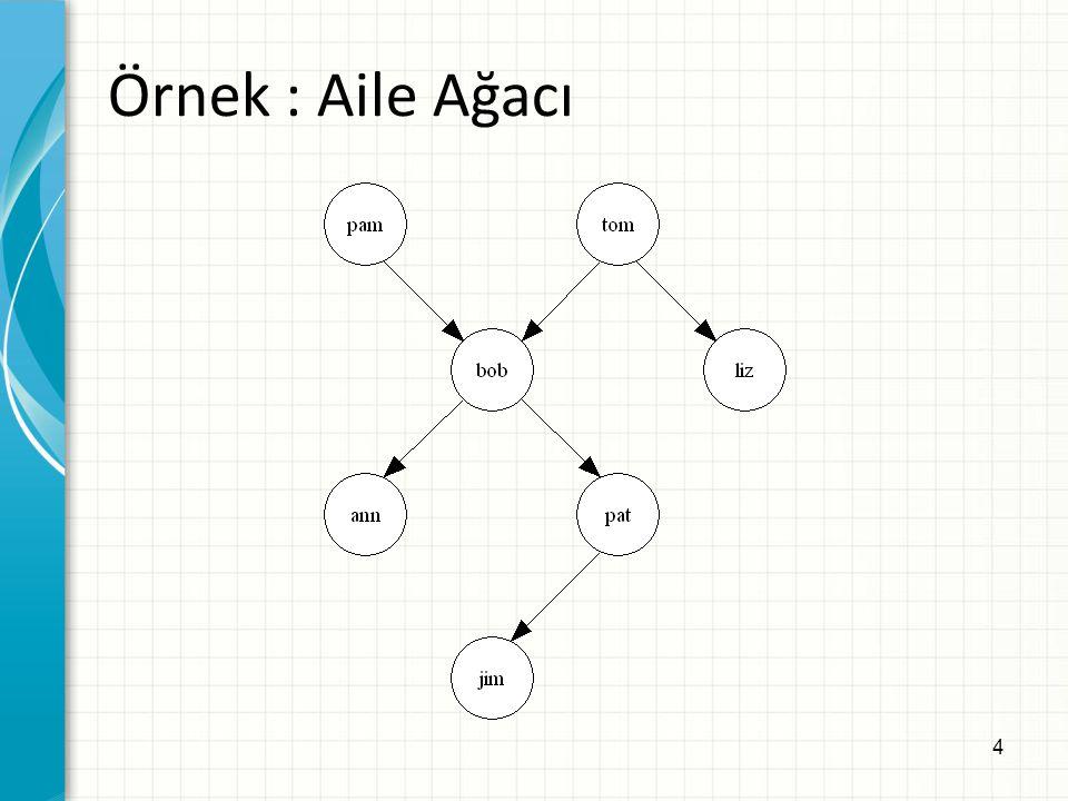 15 Kuralların Çalışması Veritabanı: Çalışma Mekanizması: 1.offsprings ilişkisi için gerçek ara 2.Yok => offsprings ilişkisi için kural varsa uygula 3.Kuralda X tom'la, Y liz'le eşleştirilerek kuralın bir gerçeklemesi bulunur: offspring(liz,tom) :- parent(tom,liz).