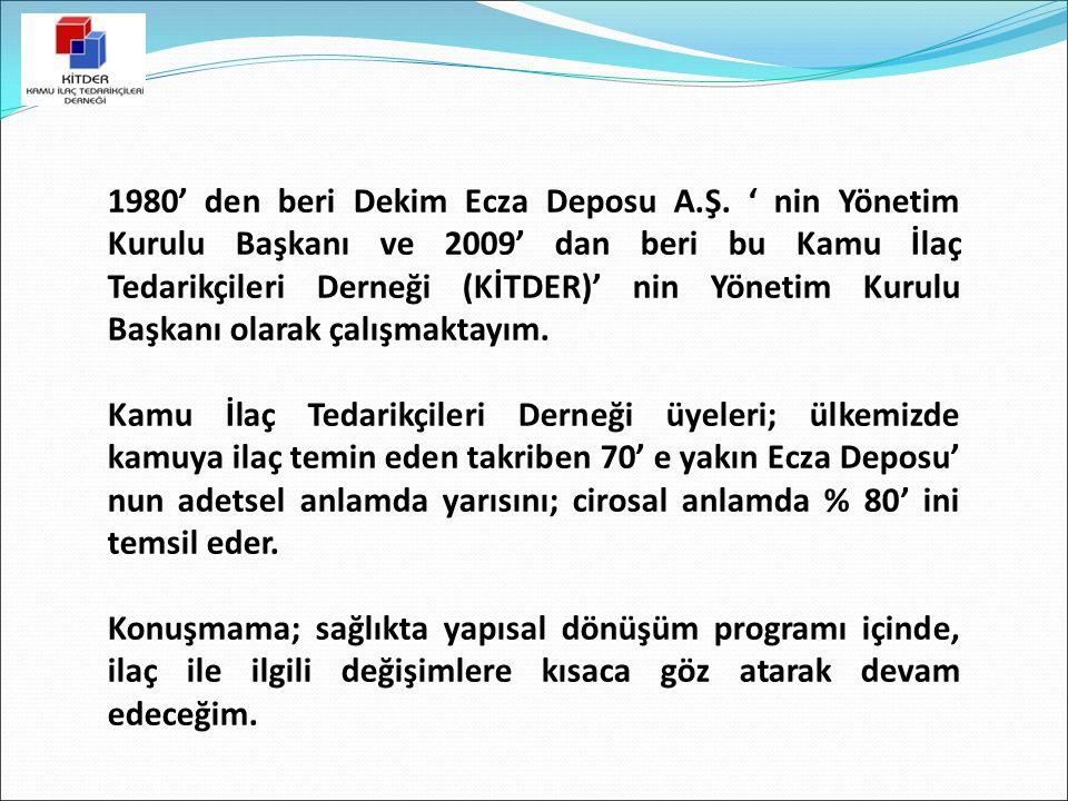 1980' den beri Dekim Ecza Deposu A.Ş. ' nin Yönetim Kurulu Başkanı ve 2009' dan beri bu Kamu İlaç Tedarikçileri Derneği (KİTDER)' nin Yönetim Kurulu B