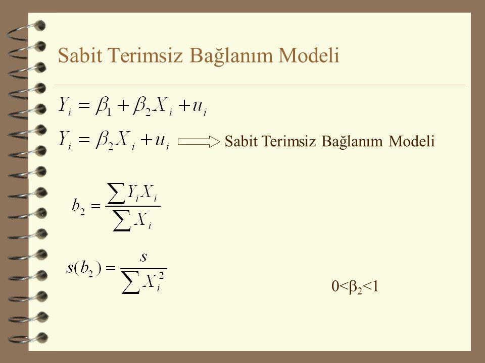 İki regresyon Parametresinin Eşitliğinin Testi (Ramu Ramanathan:Örnek 4.10) C t = Reel Tüketim Harcamaları (1992 fiyatlarıyla) Y t =GSMH (1992 fiyatlarıyla) W t = Ücretler (cari fiyatlarla) Index= 1992 bazlı fiyat indeks serisi W ts =Ücretler (1992 fiyatlarıyla) P t = Y t - W ts