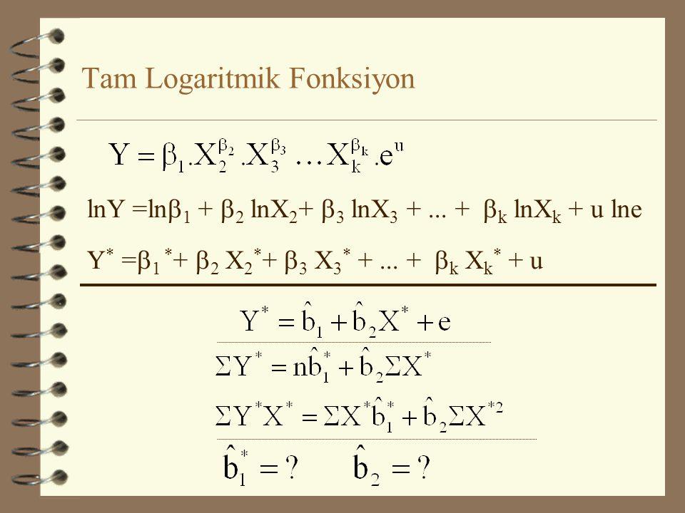lnY =ln  1 +  2 lnX 2 +  3 lnX 3 +...
