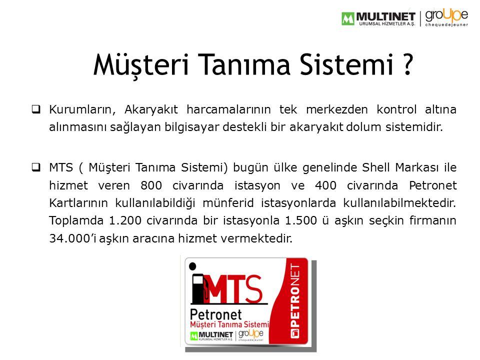  Kurumların, Akaryakıt harcamalarının tek merkezden kontrol altına alınmasını sağlayan bilgisayar destekli bir akaryakıt dolum sistemidir.  MTS ( Mü