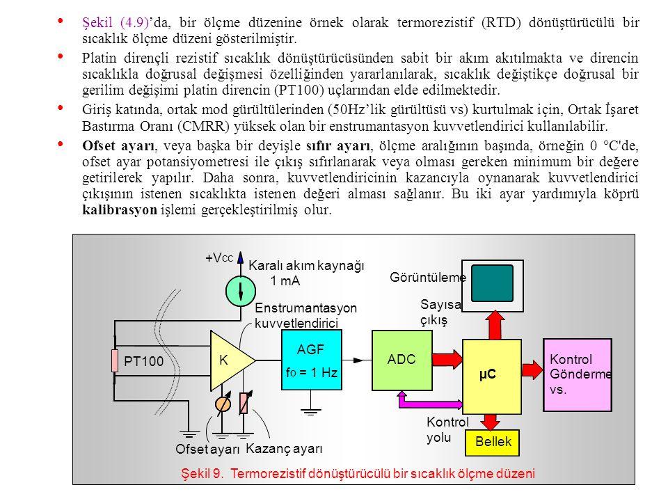 Piezoelektrik dönüştürücüler: –Mekanik uyarı karşısında direkt olarak elektrik çıkışı veren aktif tipten dönüştürücüdür. –Kullanılma yerlerine örnek o