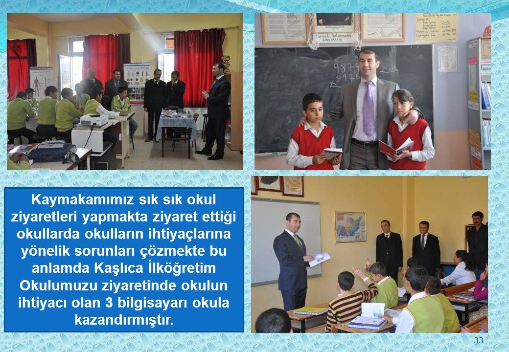 34 Bütün bu ödüllerin yanı sıra İlçemizde okul ziyaretleri yapan Kaymakamımız, her gittiği okulda öğrencilerimizi çeşitli hediyeler ve altın ile ödüllendirmektedir.