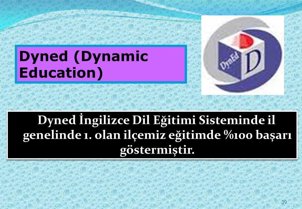 39 Dyned (Dynamic Education) Dyned İngilizce Dil Eğitimi Sisteminde il genelinde 1.