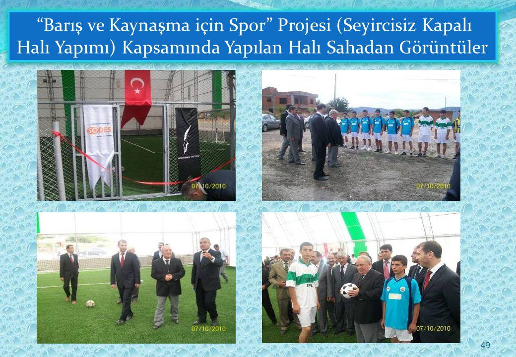 49 Barış ve Kaynaşma için Spor Projesi (Seyircisiz Kapalı Halı Yapımı) Kapsamında Yapılan Halı Sahadan Görüntüler