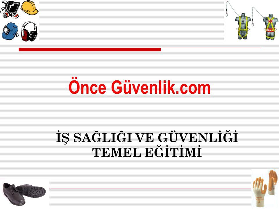 www.onceguvenlik.com İŞ GÜVENLİĞİ ÇALIŞMA ALANLARI c) Ergonomi kurallarından yararlanma, d) Disiplin tedbirlerini uygulama.