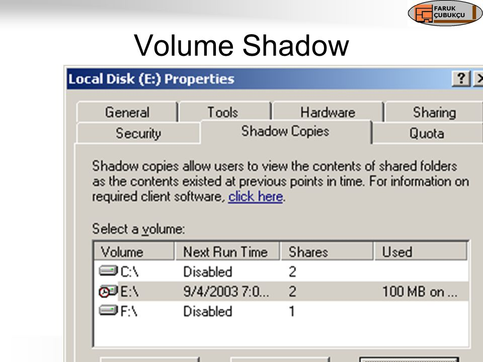 Volume Shadow