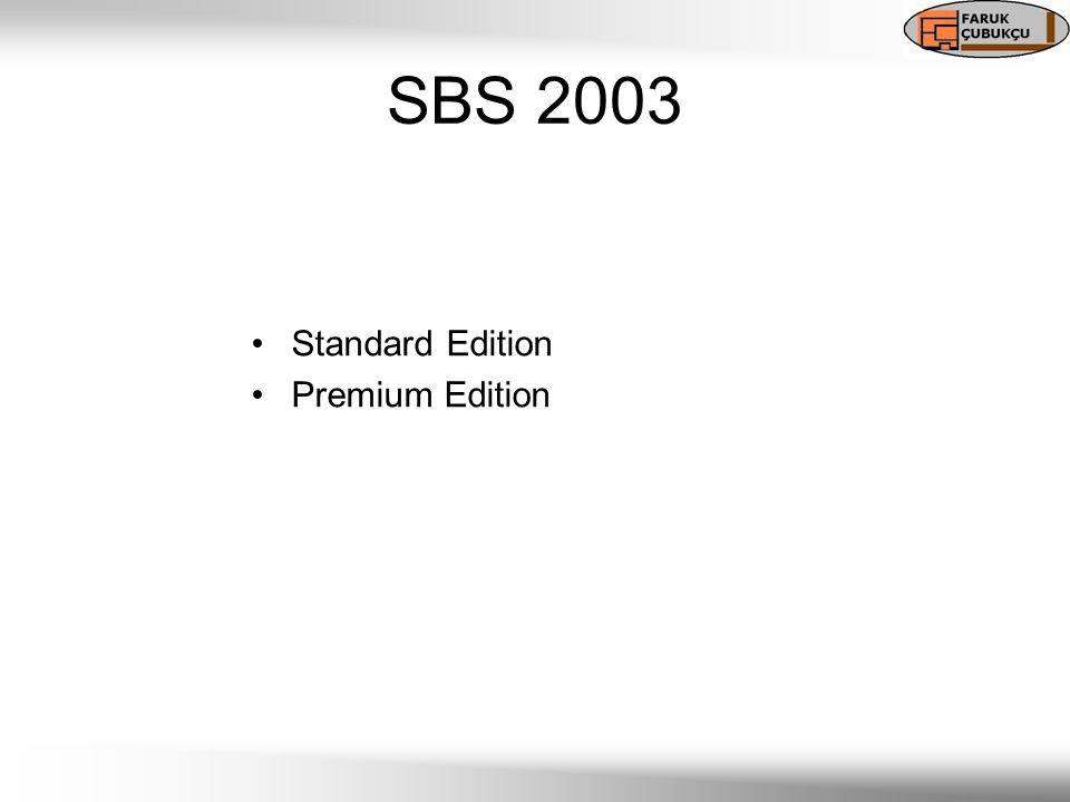 SBS 2003 Standard Edition Premium Edition