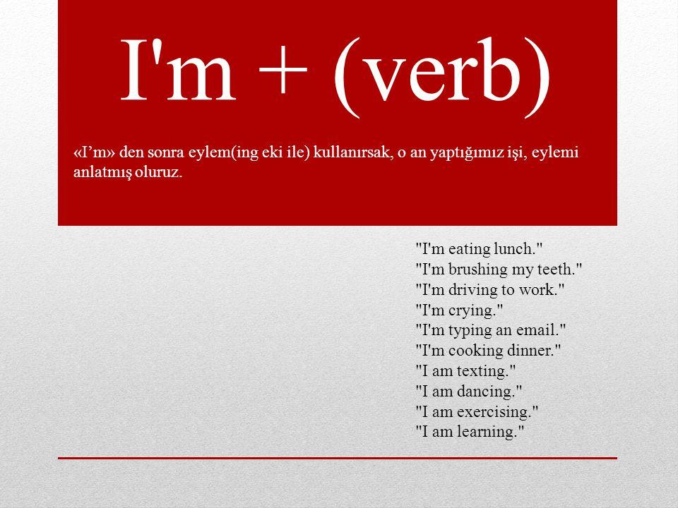 I plan to + (verb) Yapmayı planladığımız şeyleri anlatmak için kullanılır.