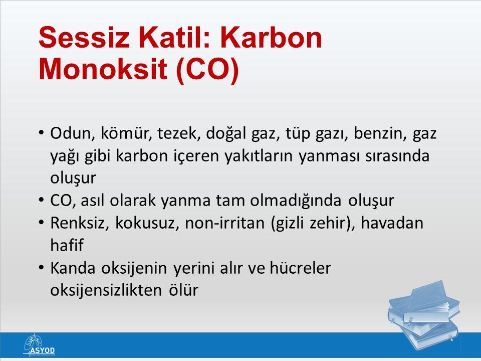 Sessiz Katil: Karbon Monoksit (CO) Odun, kömür, tezek, doğal gaz, tüp gazı, benzin, gaz yağı gibi karbon içeren yakıtların yanması sırasında oluşur CO