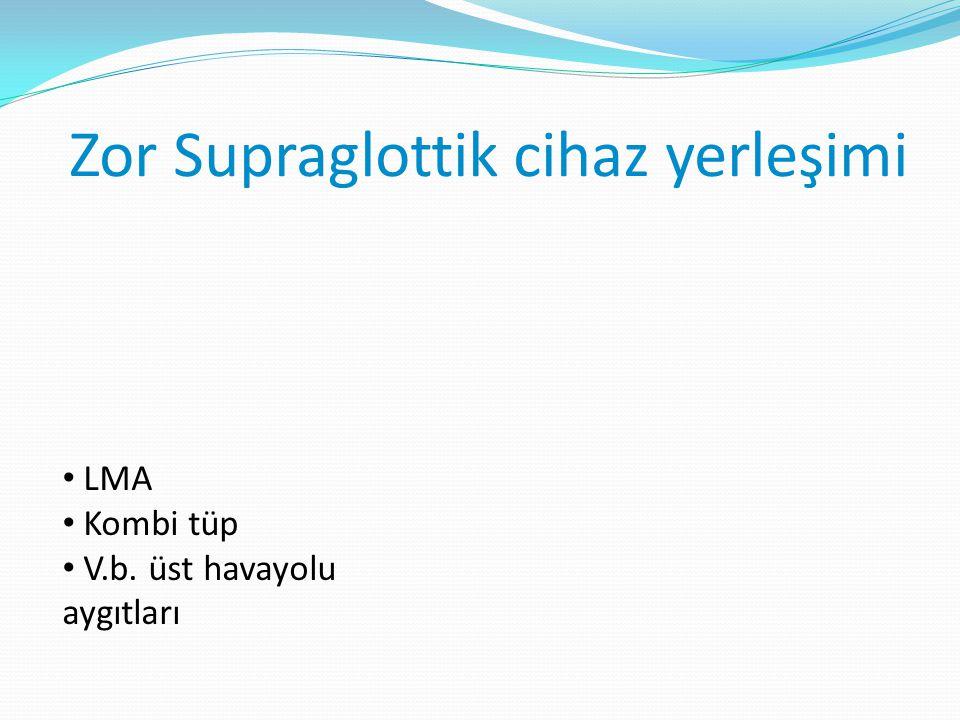 Zor Supraglottik cihaz yerleşimi LMA Kombi tüp V.b. üst havayolu aygıtları