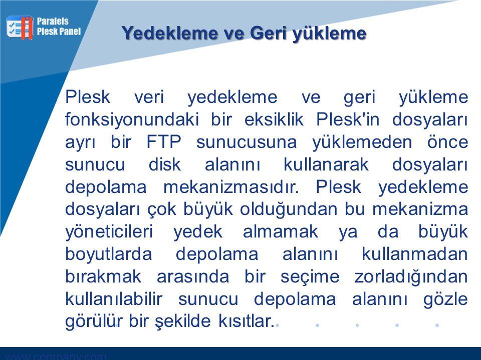 www.company.com Plesk Panel ve Kullanımı Sinop Üniversitesi www.bilgisayarprogramciligi.net