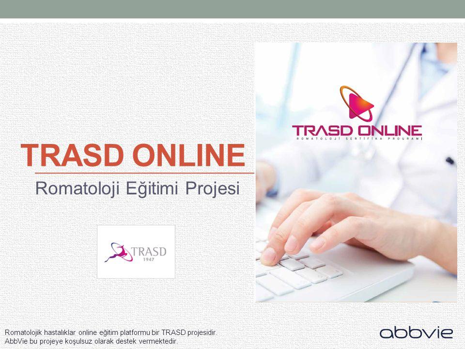Romatolojik hastalıklar online eğitim platformu bir TRASD projesidir.