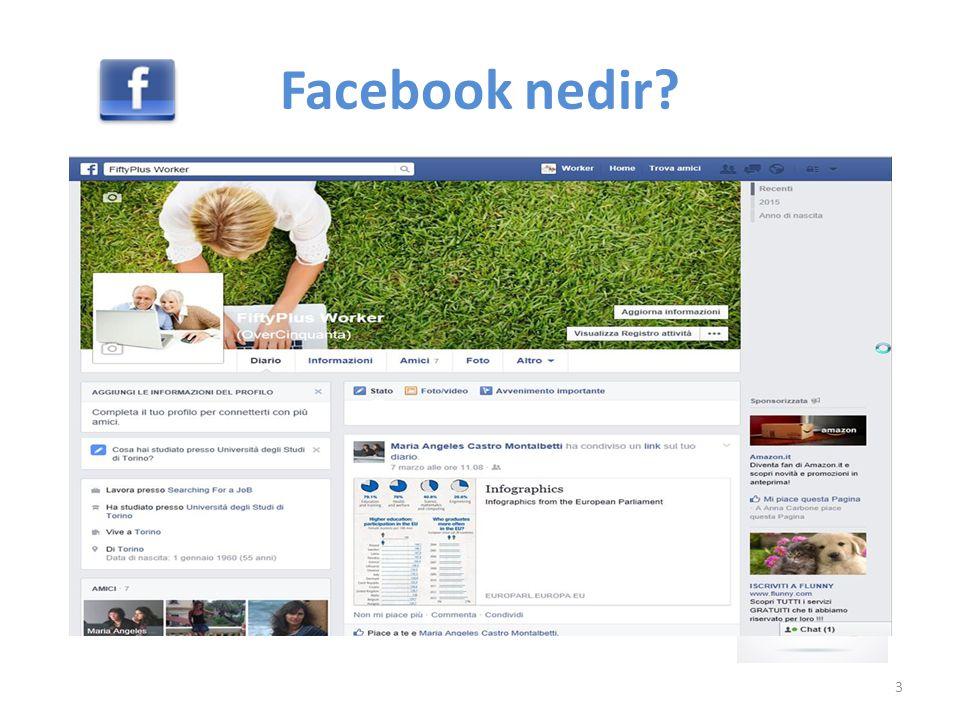 Facebook kişilerin sanal ortamda, tanıdıklarıyla ve diğer insanlarla iletişim kurabilmesine ve paylaşımlarda bulunabilmesine olanak sağlayan bir sosyal ağdır.