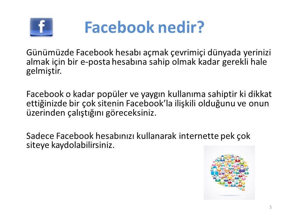 Facebook'ta nasıl paylaşım yapılır.