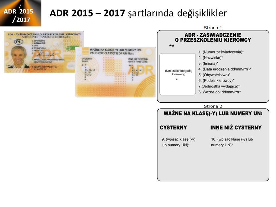 ADR 2015 – 2017 şartlarında değişiklikler ADR 2015 2017