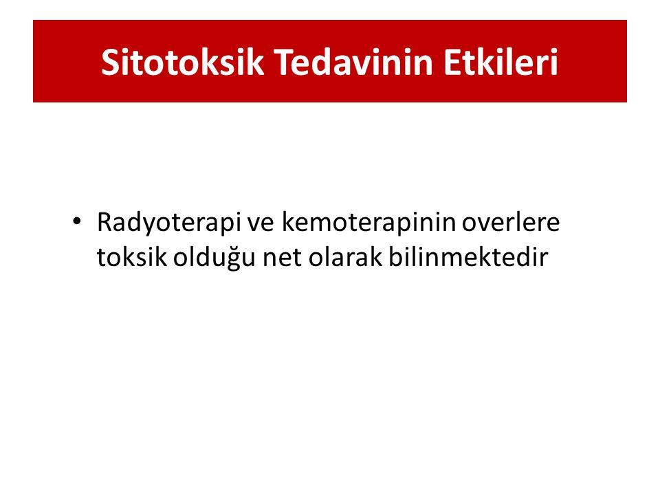 Sitotoksik Tedavinin Etkileri Radyoterapi ve kemoterapinin overlere toksik olduğu net olarak bilinmektedir