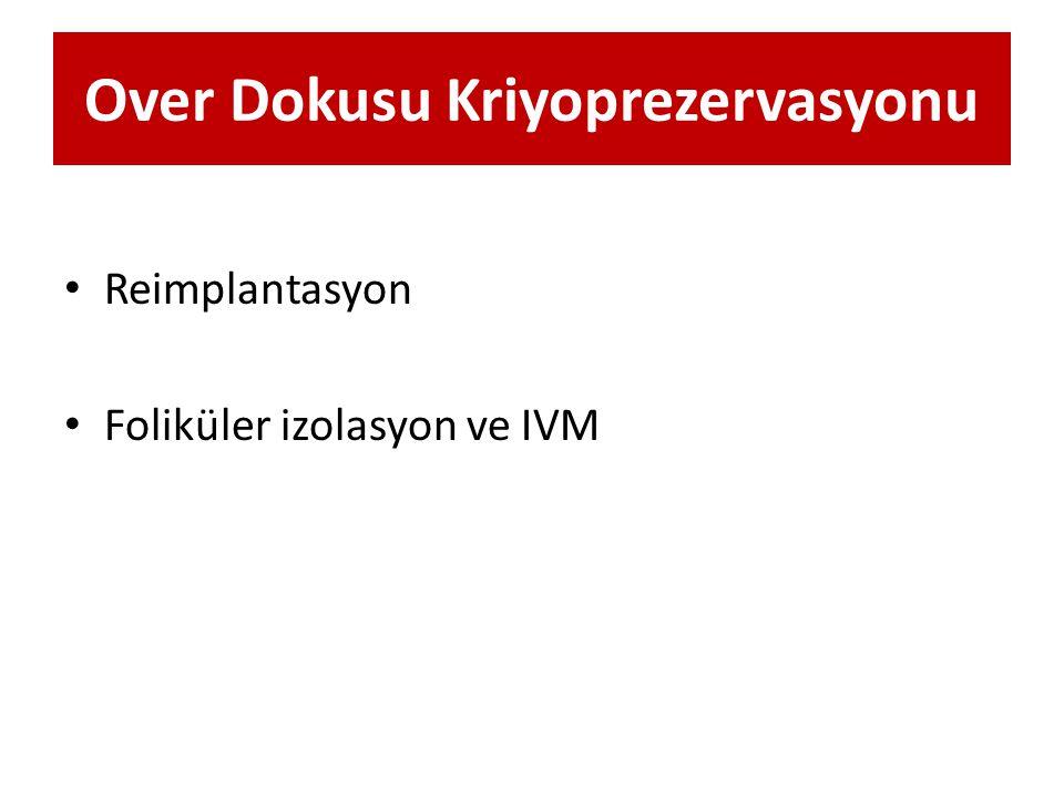 Over Dokusu Kriyoprezervasyonu Reimplantasyon Foliküler izolasyon ve IVM