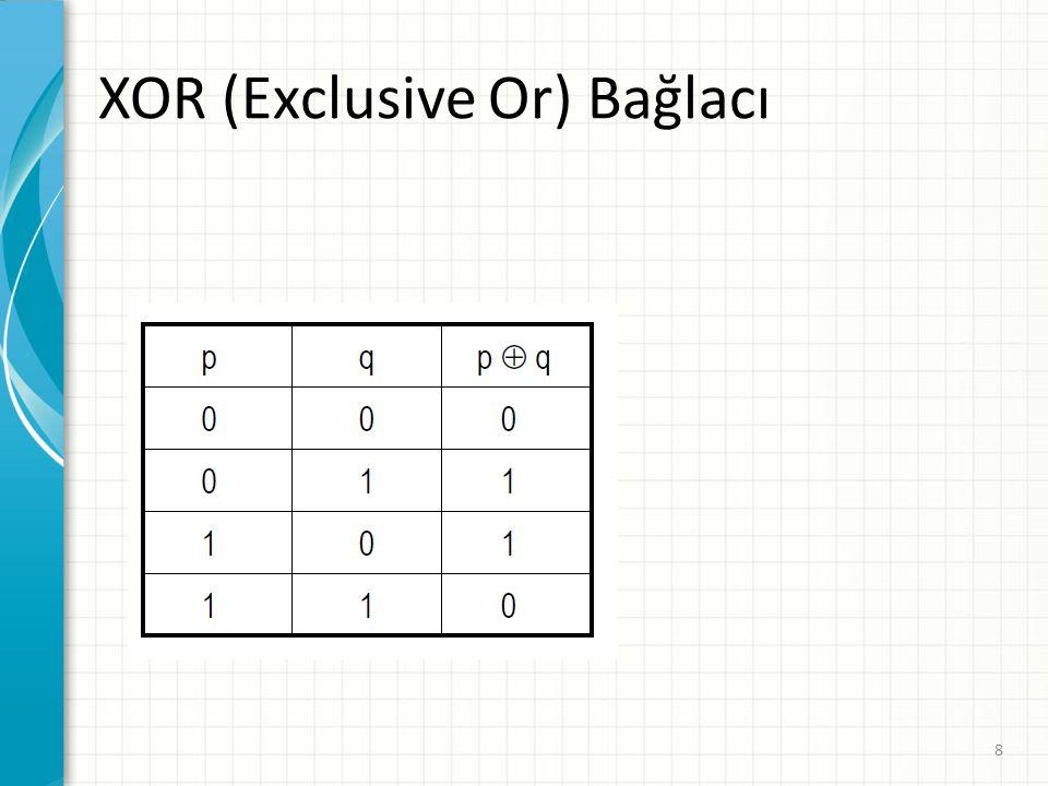 XOR (Exclusive Or) Bağlacı 8