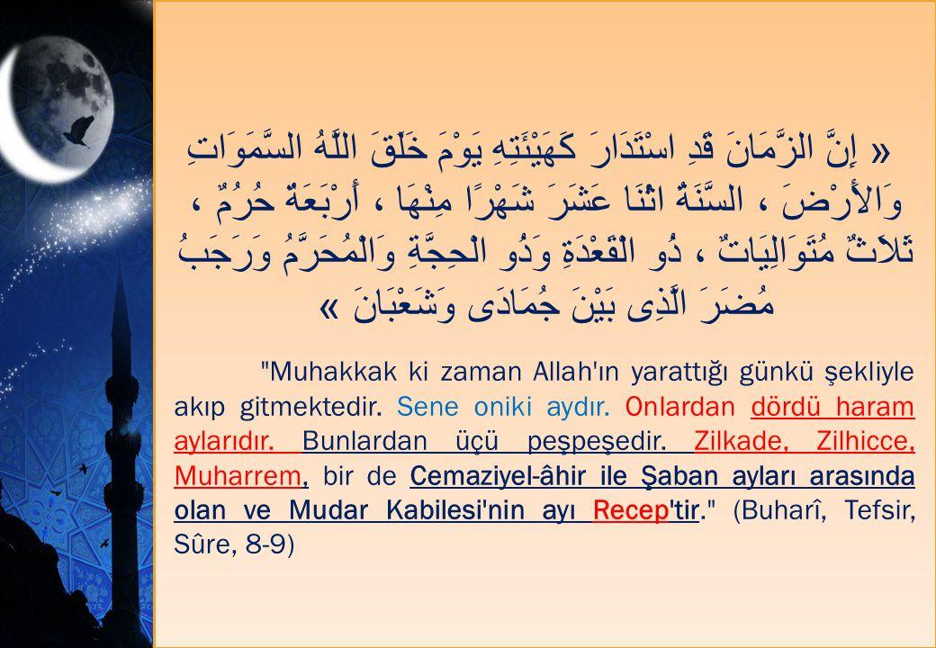 « إِنَّ الزَّمَانَ قَدِ اسْتَدَارَ كَهَيْئَتِهِ يَوْمَ خَلَقَ اللَّهُ السَّمَوَاتِ وَالأَرْضَ ، السَّنَةُ اثْنَا عَشَرَ شَهْرًا مِنْهَا ، أَرْبَعَةٌ ح