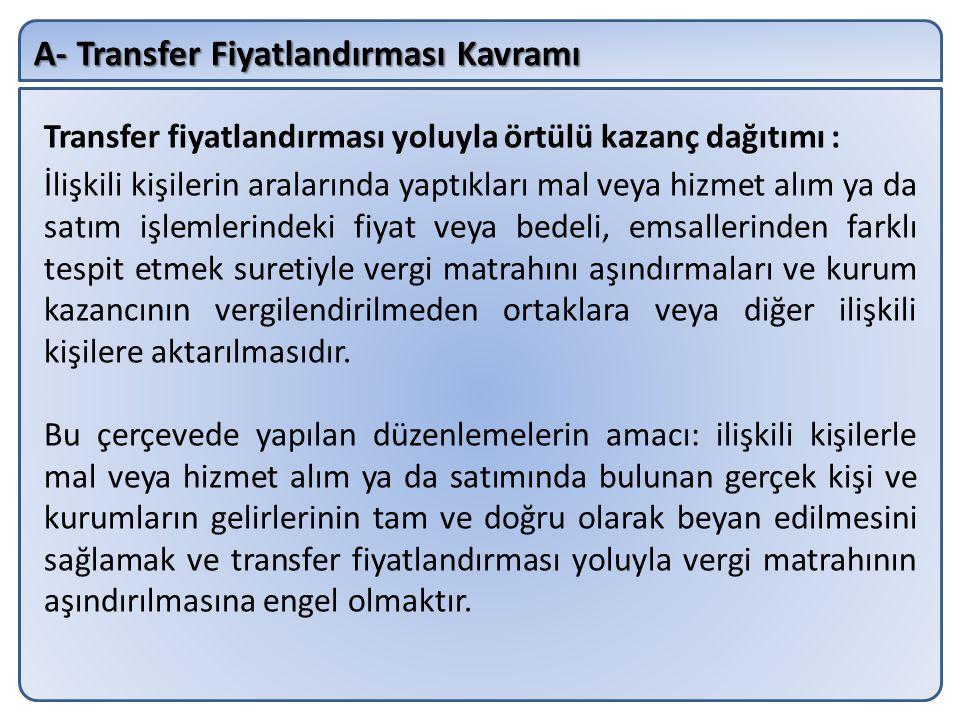 B- İlişkili Kişilerle İşlemler Ayrıca; Aralarında ortaklık ilişkisi bulunup bulunmadığına bakılmaksızın, yurt dışında bulunan bir kurum ile Türkiye'de dağıtıcı (distribütör) olarak faaliyette bulunan kurum ilişkili kişi kapsamında değerlendirilecektir.