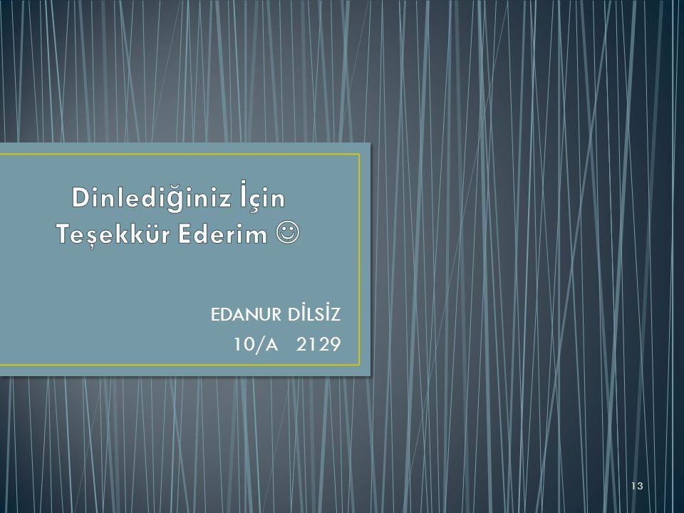 EDANUR D İ LS İ Z 10/A 2129 13