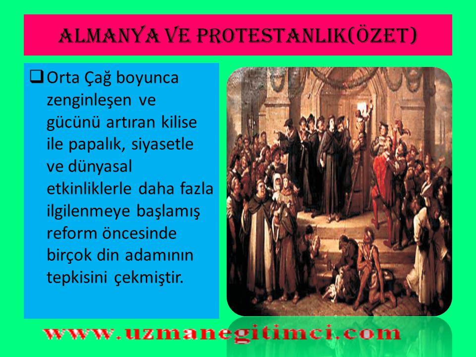 REFORM'UN TANIMI  Reform, 15. ve 17. yüzyıl boyunca önce Almanya'dan sonra tüm Avrupa'yı etkileyen dinsel bir harekettir. Bu hareket Katolik kilisesi