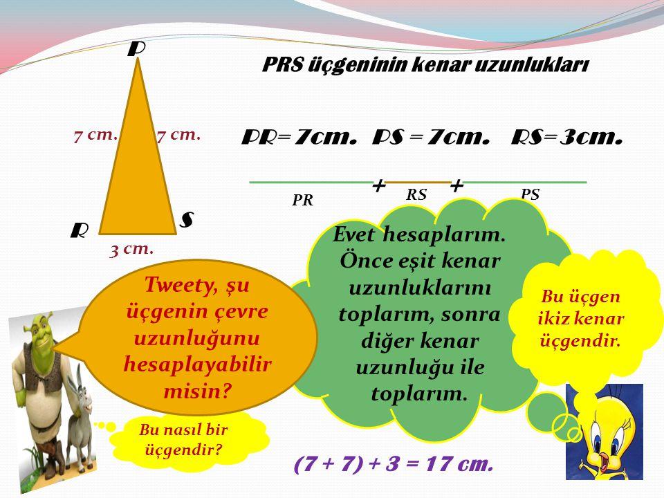 E FG 7 cm E F G üçgeninin kenar uzunlukları EF= 7cm.