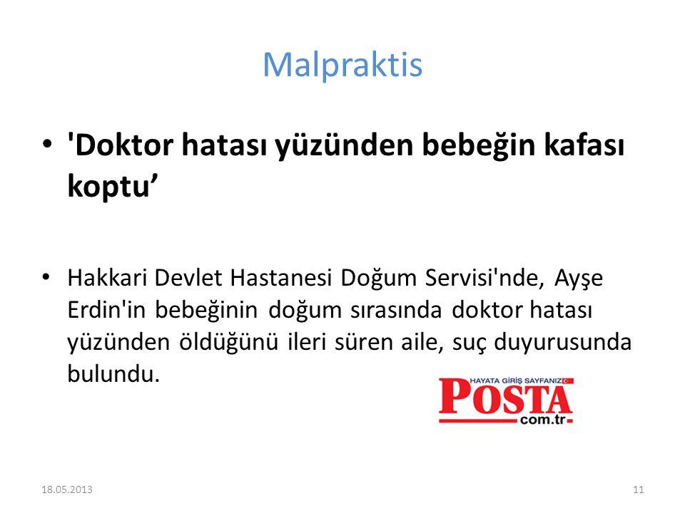 Malpraktis 'Doktor hatası yüzünden bebeğin kafası koptu' Hakkari Devlet Hastanesi Doğum Servisi'nde, Ayşe Erdin'in bebeğinin doğum sırasında doktor ha