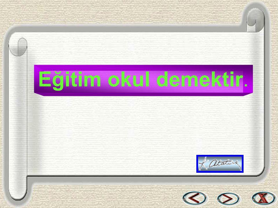 Bir & Bil www.birikimbilisim.com Eğitim okul demektir.