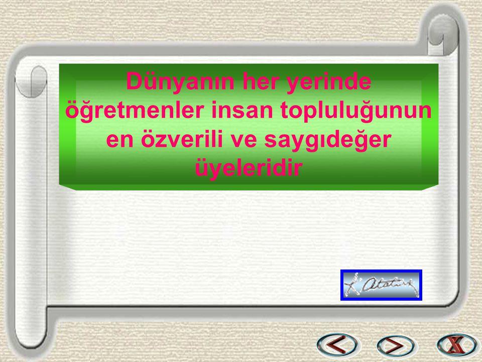 Bir & Bil www.birikimbilisim.com Dünyanın her yerinde öğretmenler insan topluluğunun en özverili ve saygıdeğer üyeleridir