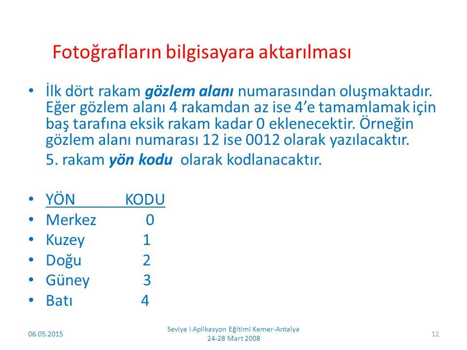 6.hane ise fotoğraf sayısını gösterecektir. Burada sadece 1 ve 2 rakamları kullanılacaktır.