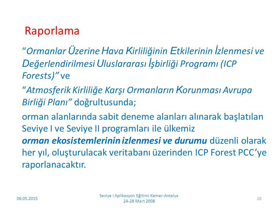 İLGİNİZ İÇİN TEŞEKKÜR EDERİM 06.05.2015 Seviye I Aplikasyon Eğitimi Kemer-Antalya 24-28 Mart 2008 27