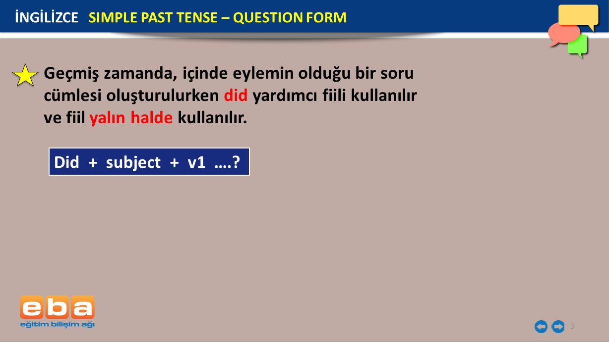4 Did he paint the room? İNGİLİZCE SIMPLE PAST TENSE – QUESTION FORM
