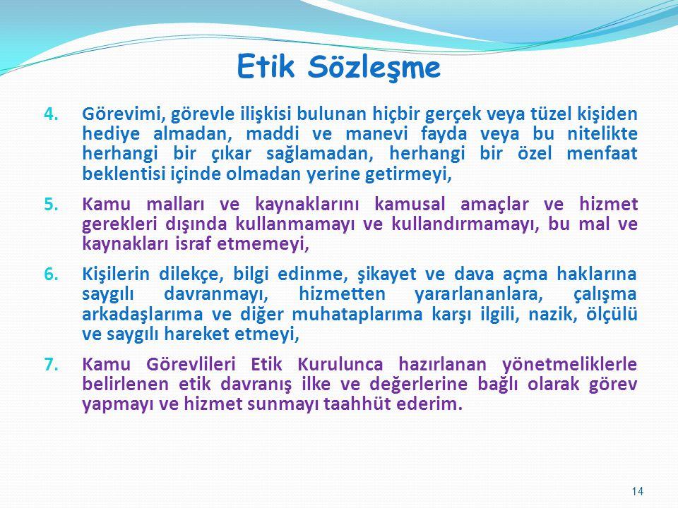 Etik Sözleşme 4.