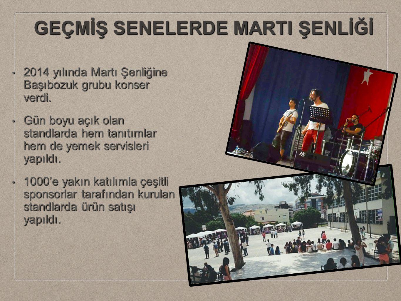GEÇMİŞ SENELERDE MARTI ŞENLİĞİ 2014 yılında Martı Şenliğine Başıbozuk grubu konser verdi. 2014 yılında Martı Şenliğine Başıbozuk grubu konser verdi. G
