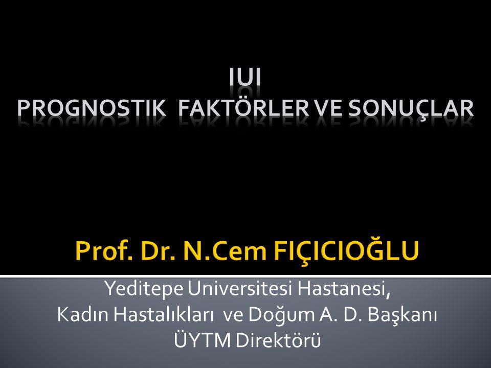 Yeditepe Universitesi Hastanesi, Kadın Hastalıkları ve Doğum A. D. Başkanı ÜYTM Direktörü