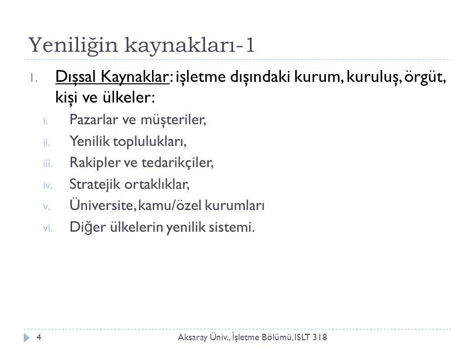 Aksaray Üniv., İ şletme Bölümü, ISLT 3185