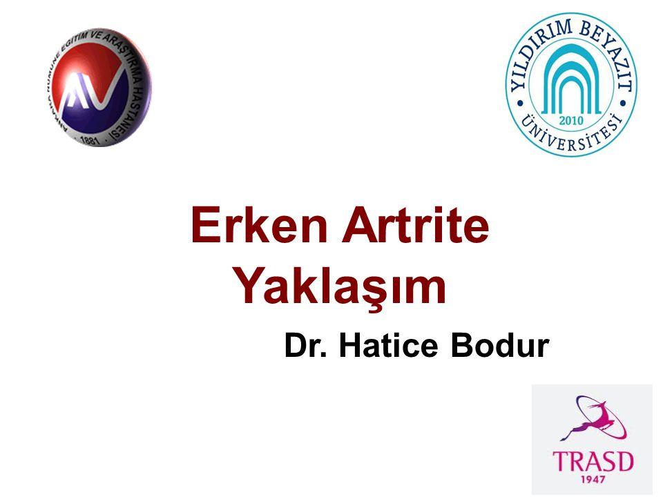 Erken Artrite Yaklaşım Dr. Hatice Bodur