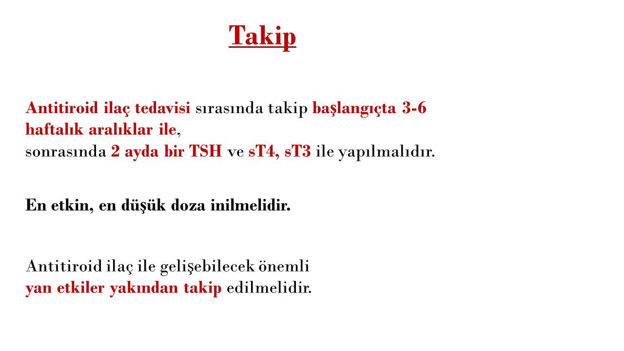 Thyromazol tb 5 mg 100 tablet içeren ambalajlarda Kullanım Şekli: Günlük doz 3x1-3 tablettir. 1-2 aylık tedaviden sonra günlük doz 1/4 oranında azaltı