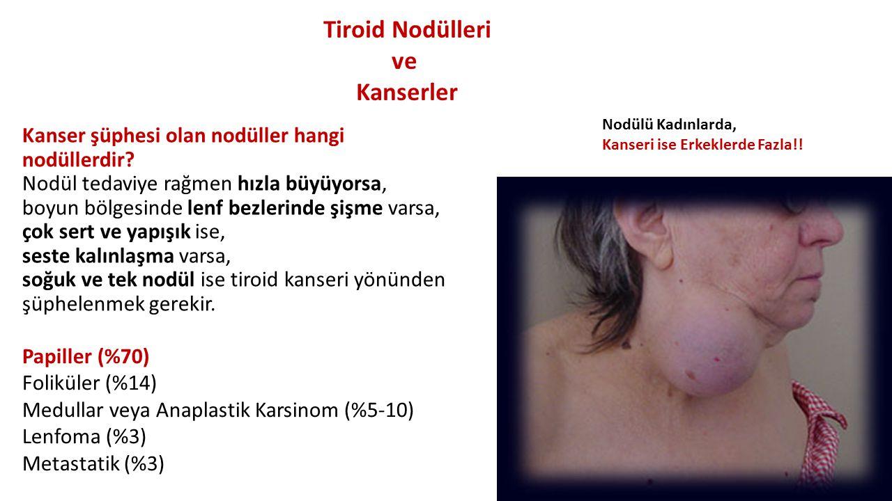 Sevk Endikasyonları Çocuklukta anormal tiroid fonksiyon testleri Ailevi tiroid hastalıkları Klinik ile uyumsuz tiroid testleri T4 ve T3 uyumsuzlu ğ u Tiroid fonksiyonlarında giderek artan de ğ i ş iklikler