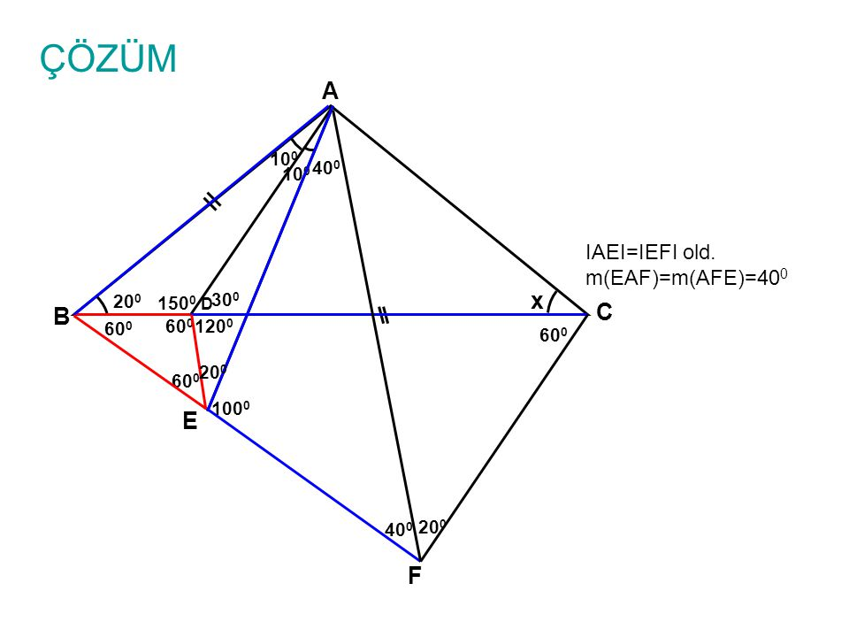 ÇÖZÜM m(BAF)=m(BCF)=60 0 old.