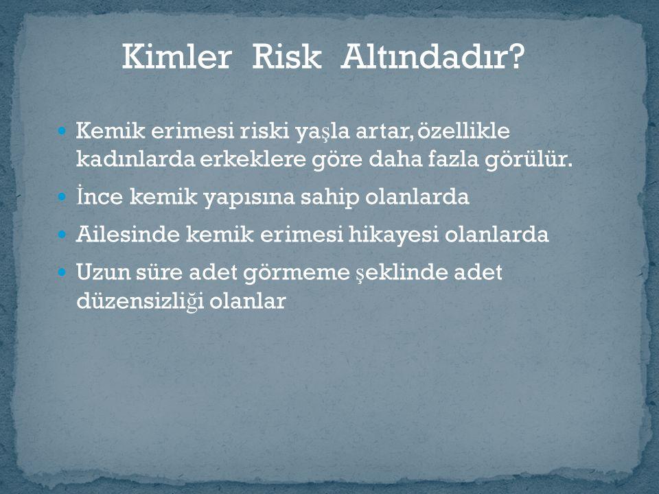 Kimler Risk Altındadır.