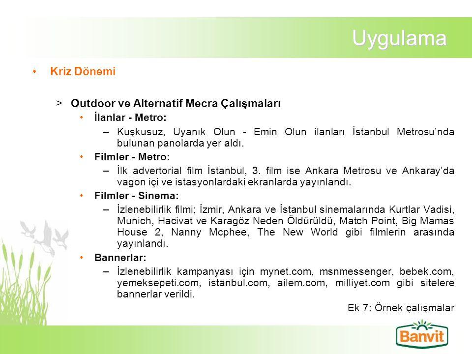 Uygulama Kriz Dönemi >Outdoor ve Alternatif Mecra Çalışmaları İlanlar - Metro: –Kuşkusuz, Uyanık Olun - Emin Olun ilanları İstanbul Metrosu'nda buluna