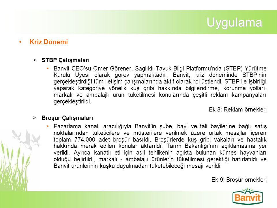 Uygulama Kriz Dönemi >STBP Çalışmaları Banvit CEO'su Ömer Görener, Sağlıklı Tavuk Bilgi Platformu'nda (STBP) Yürütme Kurulu Üyesi olarak görev yapmakt
